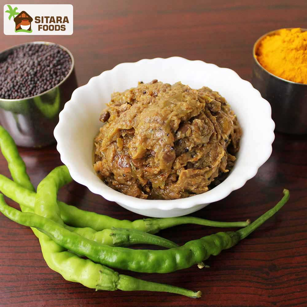 Want to Buy and try a Garma Garam Green Chilli Pickle also called Pachimirapakaya Pachadi online?